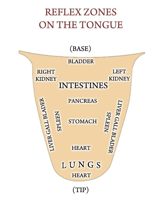 Using Young Living therapeutic grade essential oils, products and other wholistic topics: Reflexology Map of Tongue