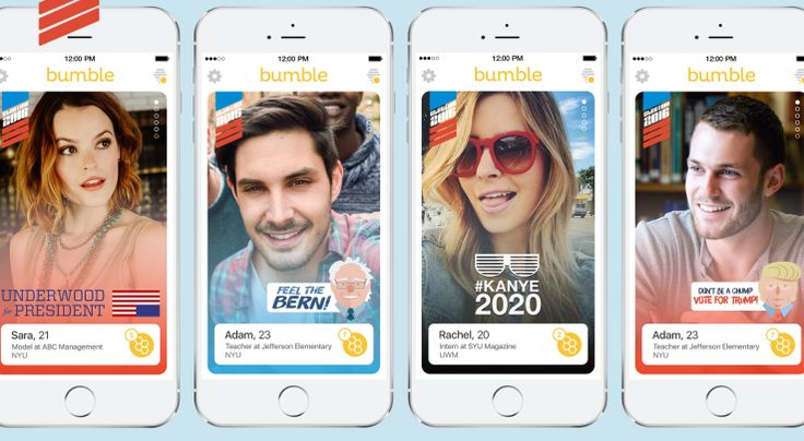 Bumble launches contextual filters for profile pictures starting with the 2016 presidential election #news #tech #world