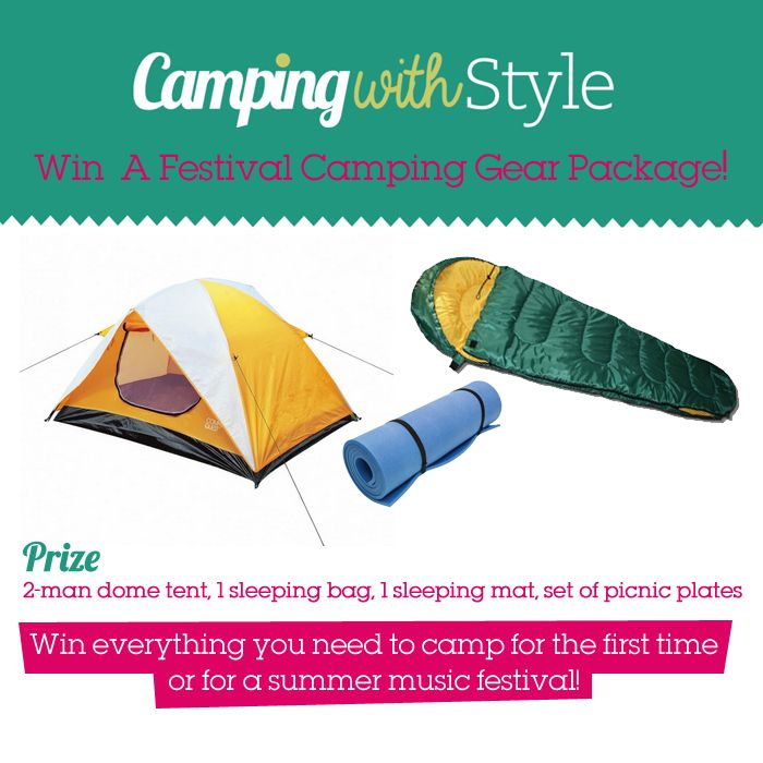 Win A Festival Camping Package Including a tent, sleeping bag and sleeping mat in our festival camping competition. It's quick and easy to enter here!