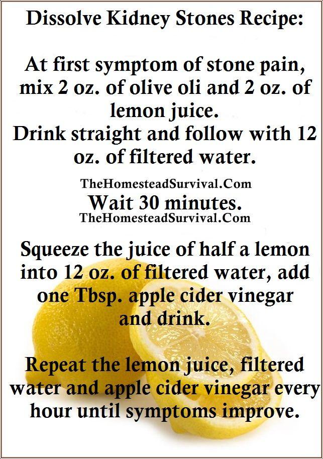 Lemon Juice Recipe For Kidney Stones » The Homestead Survival