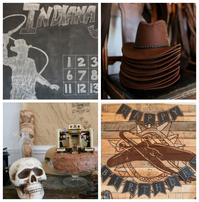 Indiana Jones themed birthday party via Kara's Party Ideas KarasPartyIdeas.com Cake, decor, printables, favors, desserts, games, and more! #...