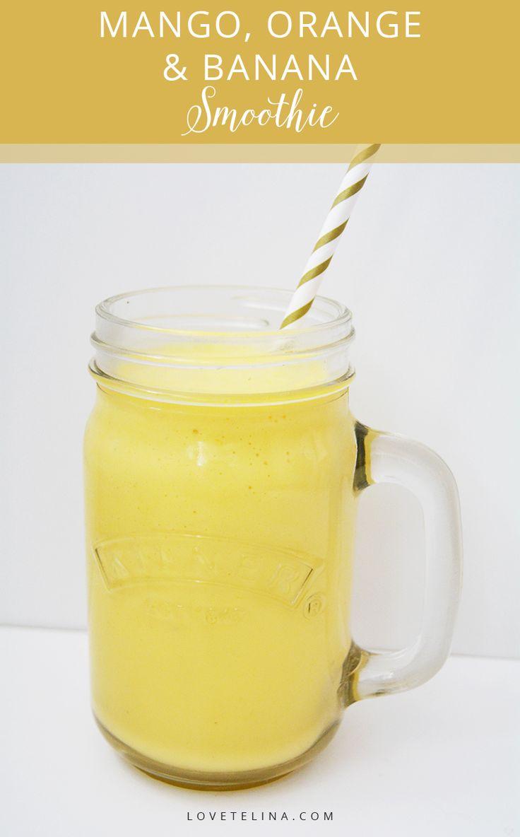 Delicious 5-ingredient Mango, Orange and Banana smoothie