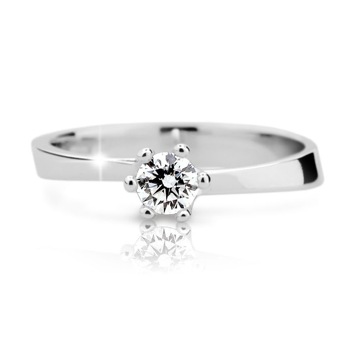 engagement ring with a round brilliant diamond    (fashion design: Danfil Diamonds)