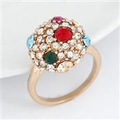 Wholesale Sweet color gem ball jeweled ring | Diggfind