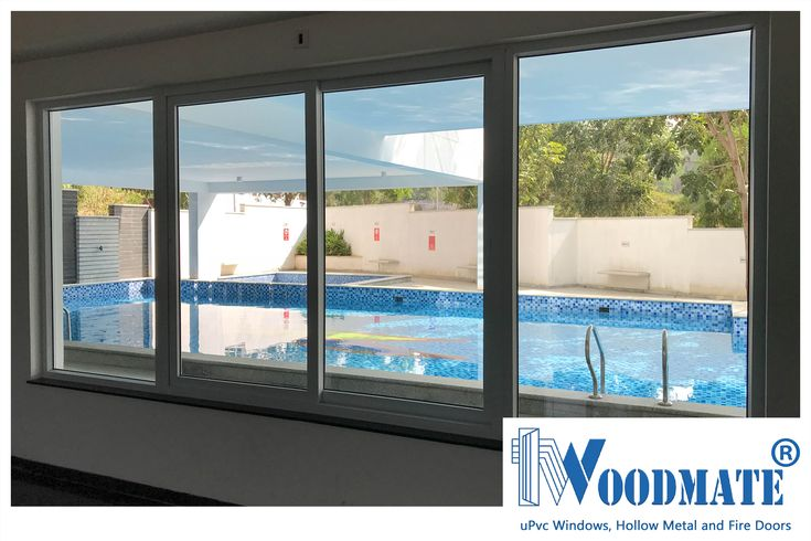 Summer is here, and all you need to do is look beyond our windows at the pool. Add #WoodMateWindows to your homes.#uPVCWindows #upvcdoors  #upvcdoorsandwindows #Doors #windows #beautifulwindows #beautifuldoors #Beautifulhomes #interiors #architecture #Bangalore #DeccanWoodMate