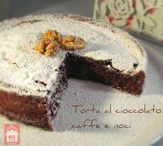 Torta al cioccolato caffè e noci, ricetta dolce - Valebel in cucina