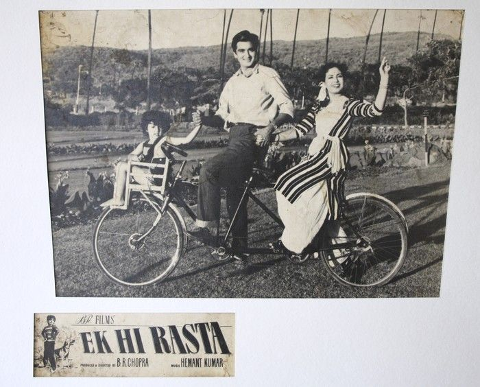 With the invention of wheels, bicycles started ruling the civilization and became a family vehicle! :)  The vehicle was fully utilized as a family transportation medium in the 1956 movie Ek hi raasta! #transportation #bicycle #bollywood