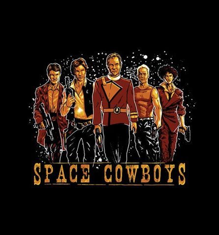 Space Cowboys   The Cracked Dispensary Firefly, Star Wars, Star Trek, 5th Element, and Spike are each represented in all their badassery.