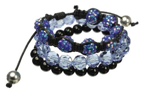 Black Onyx, Blue Cut Glass and Acrylic Beads and Stretch Bracelet Set Amazon Curated Collection. $35.00. Made in China. The natural properties and composition of mined gemstones define the unique beauty of each piece. The image may show slight differences to the actual stone in color and texture.