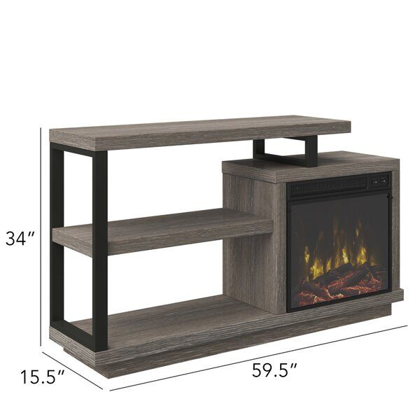 Louann Tv Stand For Tvs Up To 55 Inches With Electric