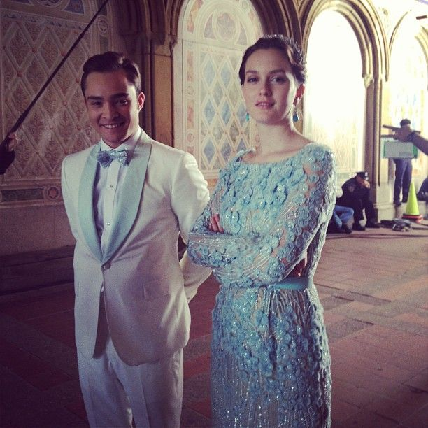 Chuck and Blair wedding. Gossip Girl. Ed Westwick and Leighton Meester.