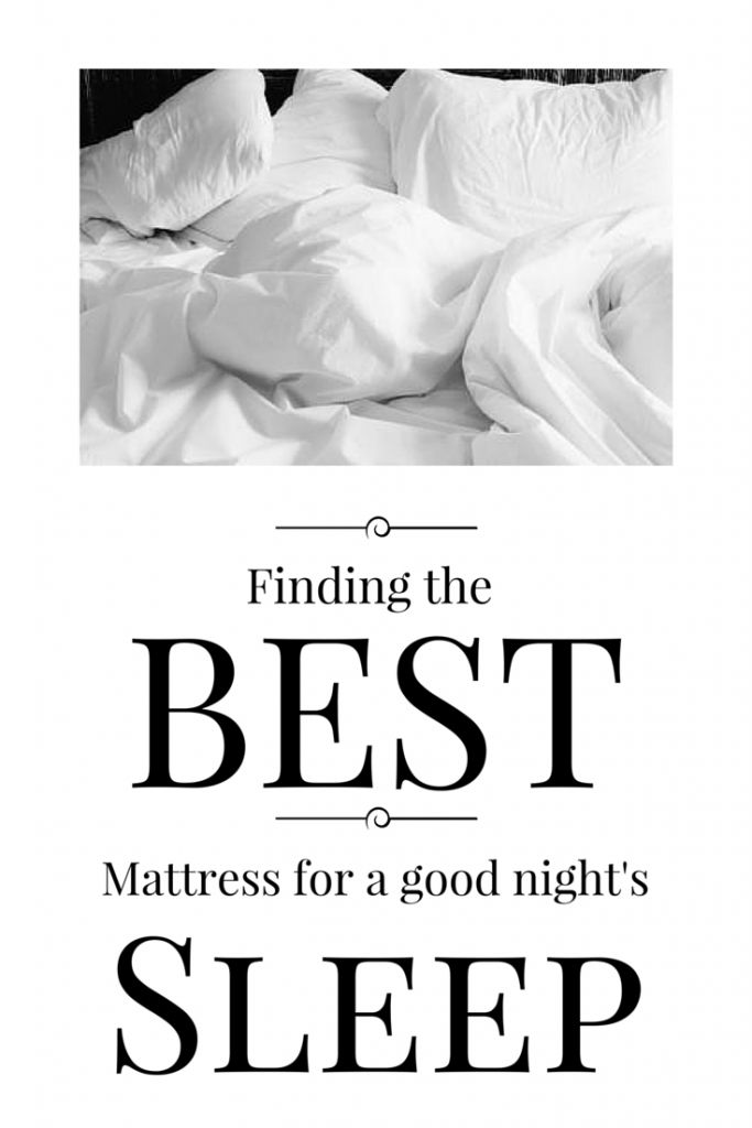 Finding the perfect mattress for a good nights sleep (1)