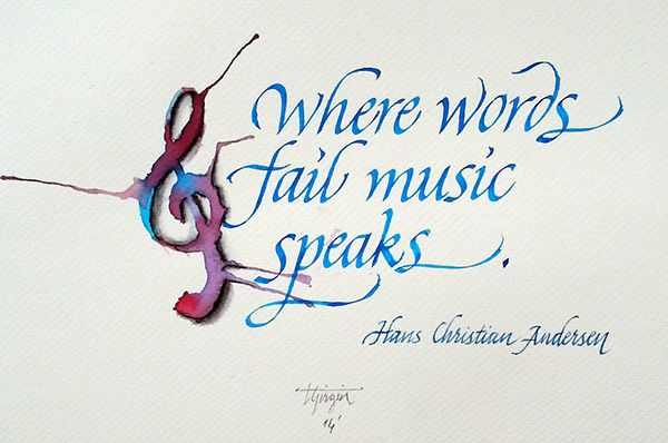 Italic Calligraphy with Watercolors and Steel Nibs on Behance