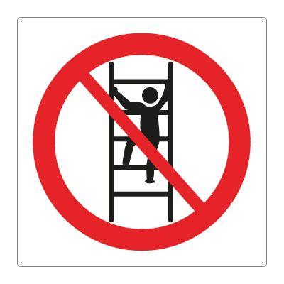 Forbudt å klartre i reolene - Kjøp Forbudsskilt her