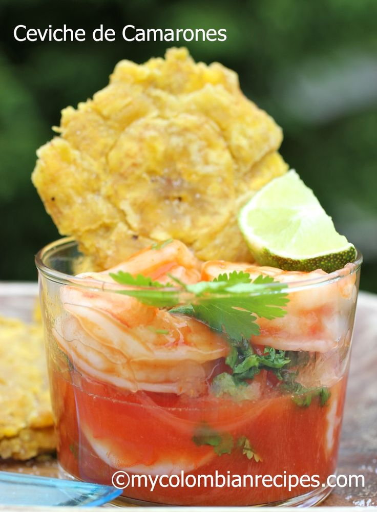 COLOMBIAN SHRIMP CEVICHE (CEVICHE DE CAMARONES) Probably good all on its own but, add primal crackers if need be.