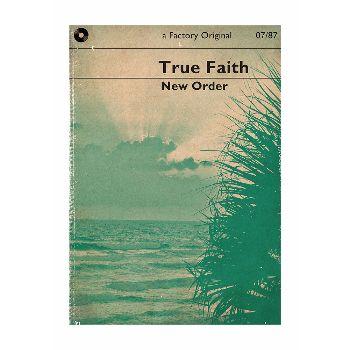 Indie Prints True Faith Music A3 Unframed Print: Literary interpretation of the New Order classic, True Faith. By Indie Prints.