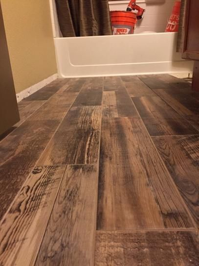 Porcelain Tiles Home Depot: Marazzi Montagna Wood Weathered Gray 6 In. X 24 In