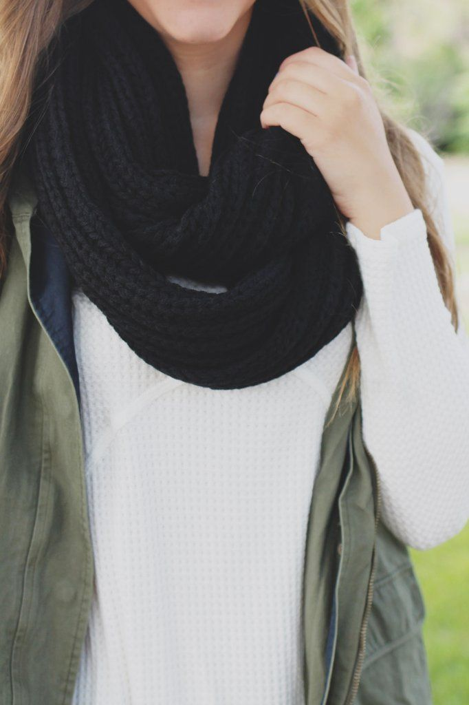 Our Country Cottage Scarf is a sublime choice when it comes to layering with your favorite flannel and distressed denim! It is a chunky knit infinity scarf. Imported. 100% acrylic. Hand wash cold. No
