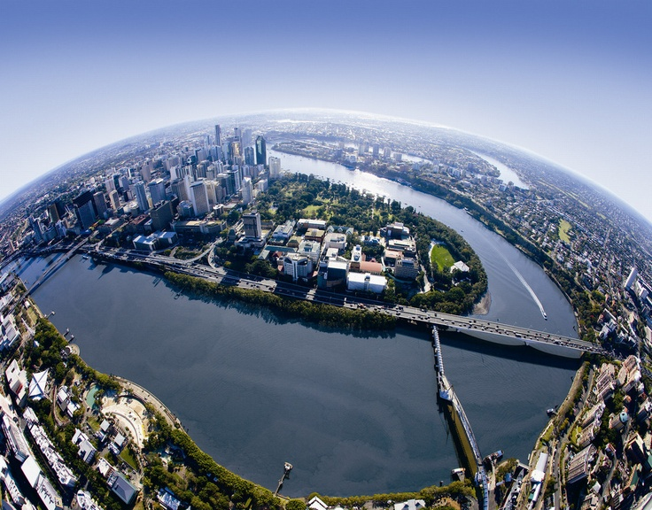 Brisbane and Bay. Photo: Brisbane Marketing. #Brisbane #BrisbaneRiver #Queensland #Australia #Travel