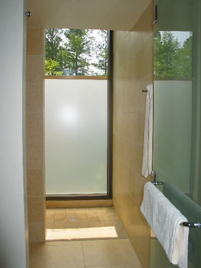 Floor To Ceiling Window In Shower Like At The Umstead Spa