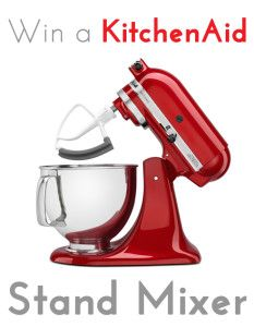 Grand Finale: KitchenAid Artisan Stand Mixer Giveaway!