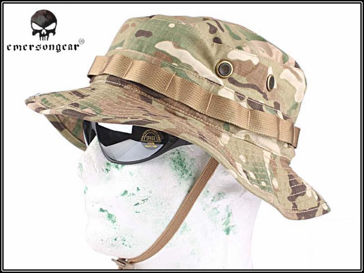 EMERSON Boonie Hat Military Tactical Army Hat Anti-scrape Grid Fabric Camouflage Hunting Hat Outdoor Sports Bucket Hat EM8553