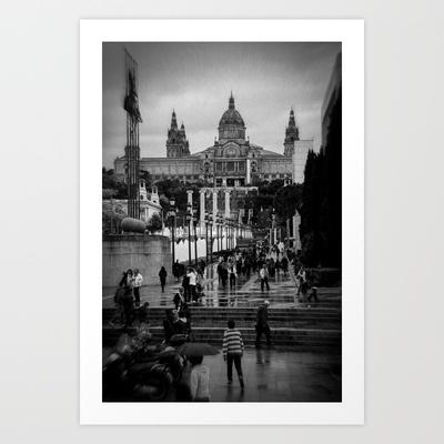 Barcelona Art Print by Francesca Vincis - $14.56