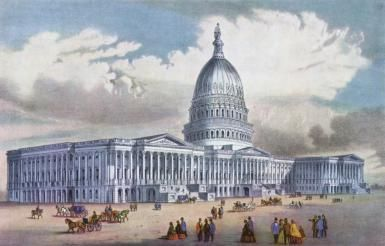 Current Agendas of the US House of Representatives and Senate: The US Capitol circa 1900