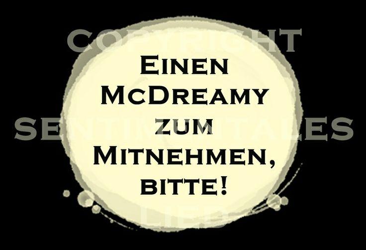 Postkarte | einen McDreamy zum Mitnehmen, bitte! von sentimentaleslied auf DaWanda.com