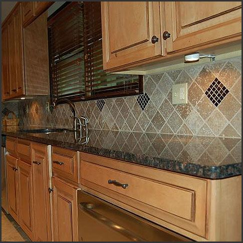 Diamond Pattern Kitchen Backsplashes