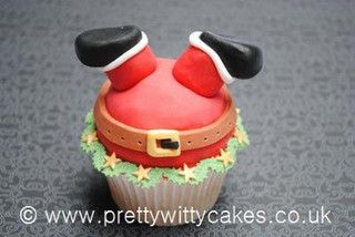 Father Christmas cupcake by Pretty Witty Cakes (Suzi Witt), via Flickr