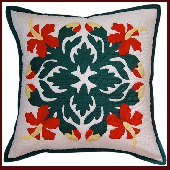 "Hawaiian Quilt - 18"" Pillow Slip"