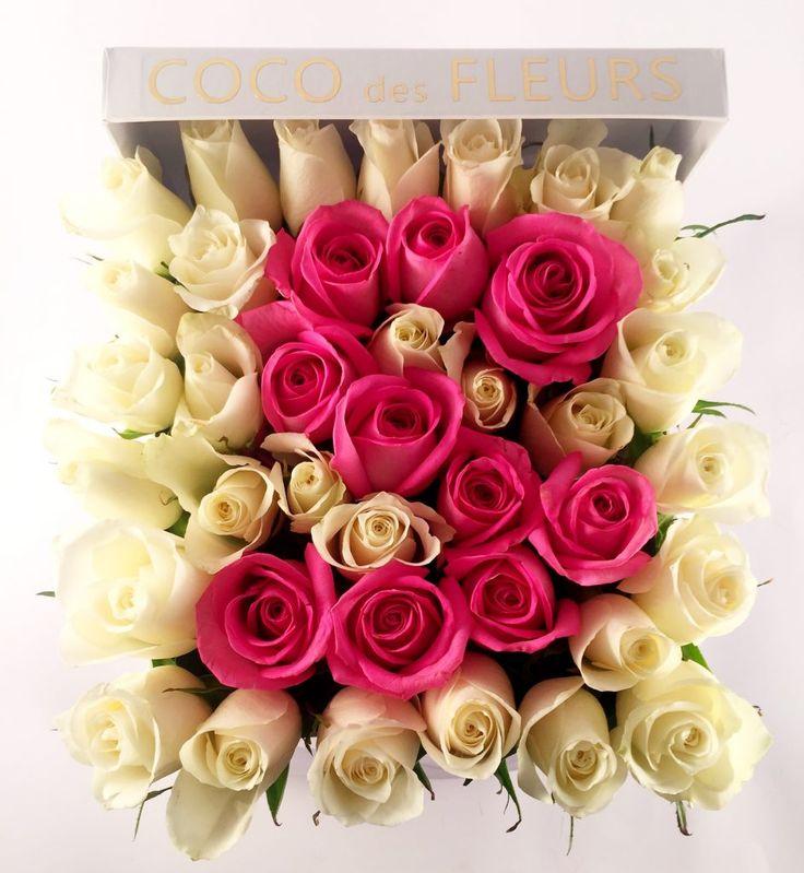 COCO des FLEURS #redroses #boxedroses #lastingroses #moet #blushroses #cocodesfluers #cocoluxur #customroses #initialroses