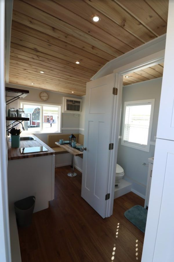 20ft Everest Tiny House With First Floor Bedroom Tiny House Bathroom Small House Design Tiny House Big Living