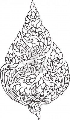Leaf Pattern artistic of Thai