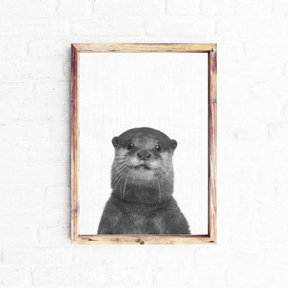 Otter Art Printable otter print printable Instant download