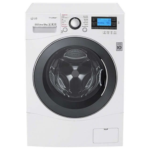 BuyLG FH495BDS2 Freestanding Washing Machine, 12kg Load, A+++ Energy Rating, 1400rpm Spin, White Online at johnlewis.com