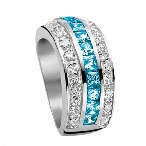 Zinzi ringen turquoise colored stones and diamonds