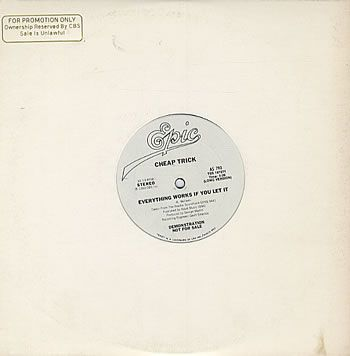 """For Sale - Cheap Trick Everything Works If You Let It USA Promo  10"""" vinyl single (10"""" record) - See this and 250,000 other rare & vintage vinyl records, singles, LPs & CDs at http://eil.com"""