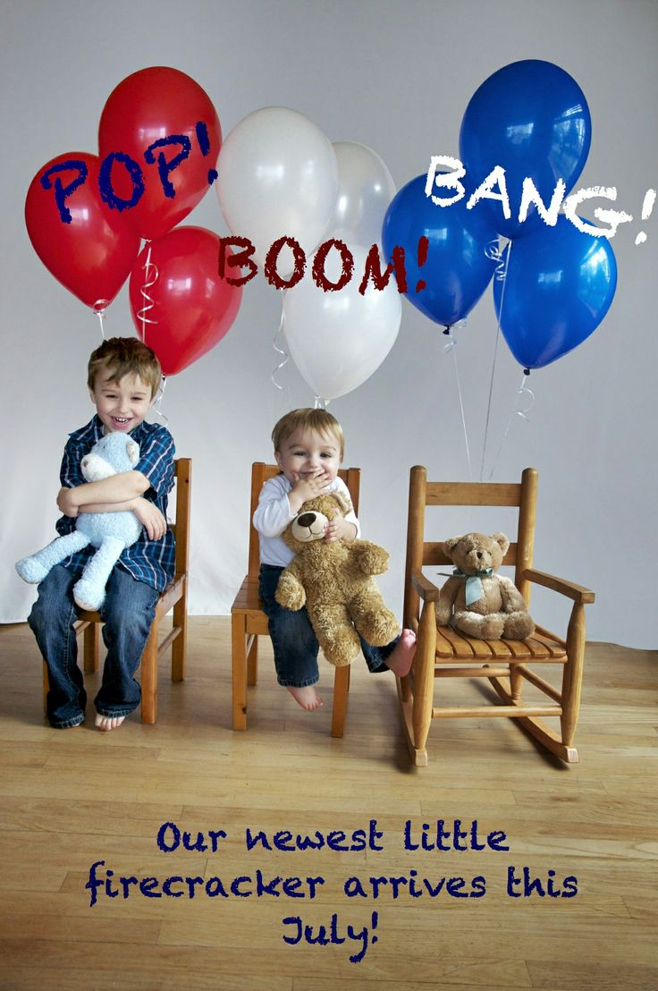 How we announced our third baby, due around the beginning of July!