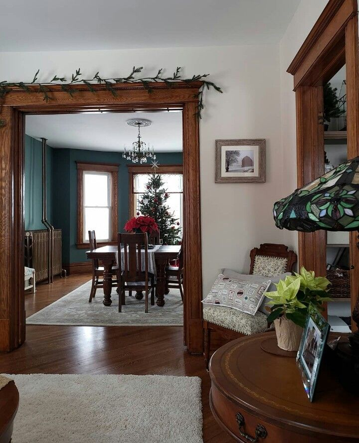 farmhouse with dark wood trim dark wood living room on best laundry room paint color ideas with wood trim id=73168