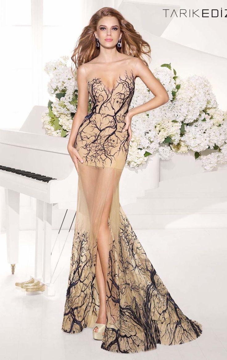 sheer gowntarik ediz - pinter   prom dresses sleeveless