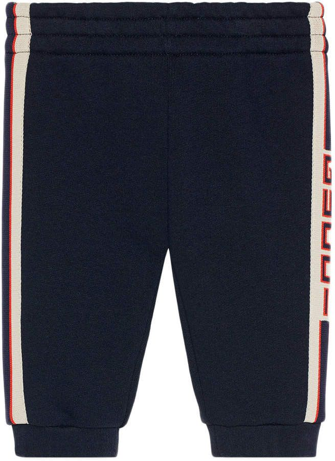 72c76d62484 Gucci Kids Baby jogging pant with Gucci stripe