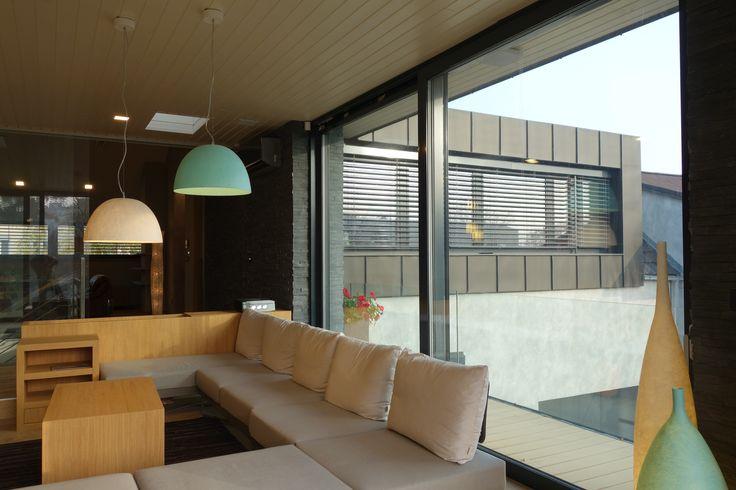 Obývací pokoj, nábytek na míru, svítidla In-es.artdesign