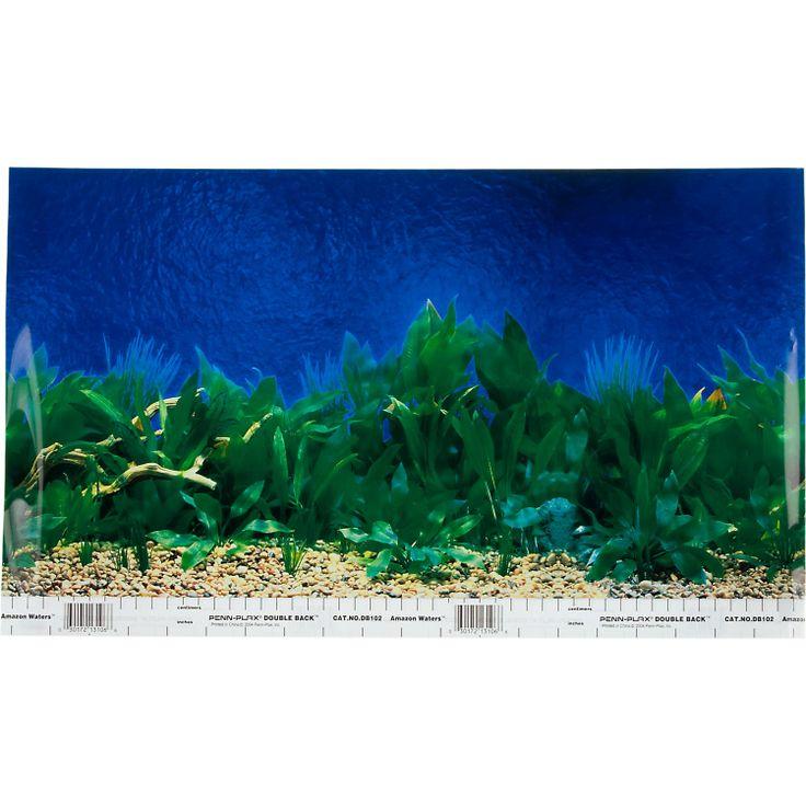 Petco Reversible Aquarium Background In Blue Amazon Waters