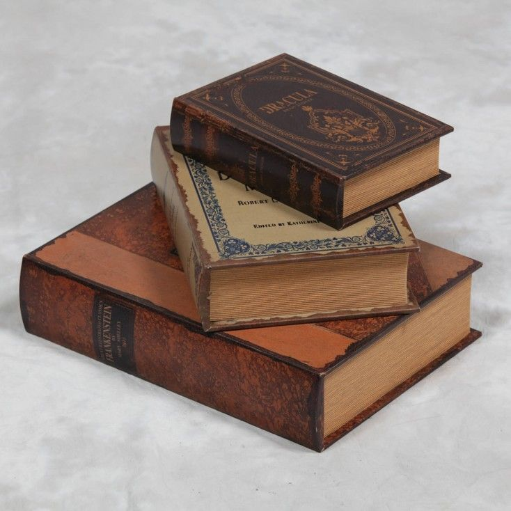 Storage horror books antique vintage Frankenstein Dr Jekyll & Mr Hyde Dracula books Quirky christmas horror gifts Call Smithers of Stamford 01780 435060