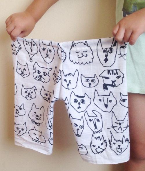 三辺縫うだけ♪手ぬぐいで作るラクちんパンツの型紙☆の作り方