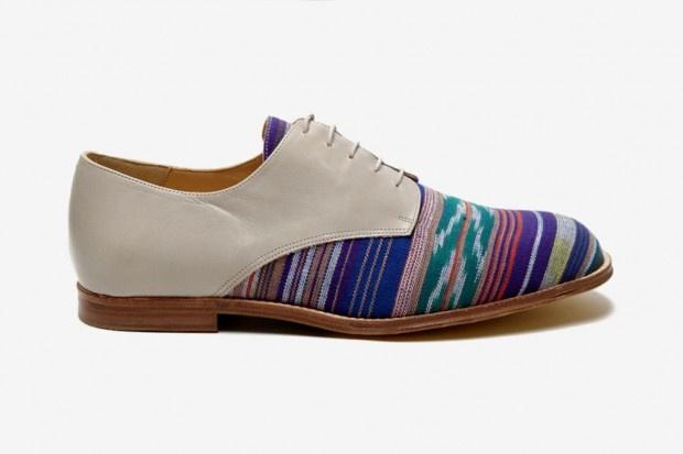 T Slack Shoemakers London oki-ni Exclusive Ikat Denver Derby Shoe | Hypebeast
