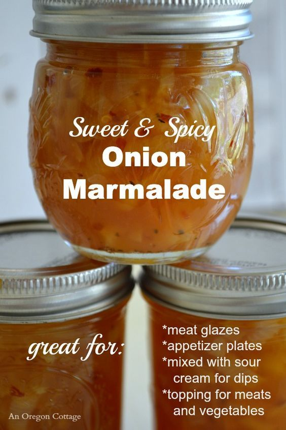 Sweet and Spicy Canned Onion Marmalade recipe - a perfect winter canning option with so many uses! http:∕∕www.anoregoncottage.com∕sweet-spicy-canned-onion-marmalade∕