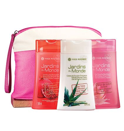 Giver her the Jardins du Monde Deluxe Shower Gel Collection! With it, she'll never have a boring shower! #beauty #giftideas #shop